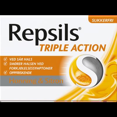 REPSILS TRIPLE ACTION HONNING & SITRON U/SUKKER 24 STK