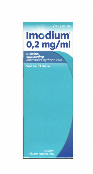 Bilde av Imodium mikst 0,2 mg/ml 100 ml