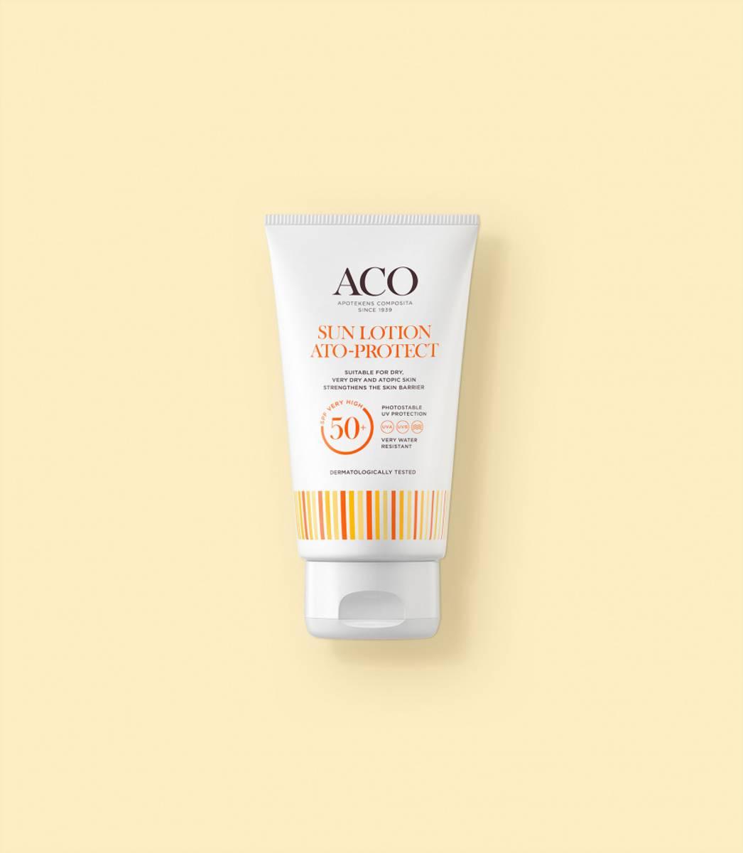 Aco atoprotect sunlotion f50+ u/p 150 ml