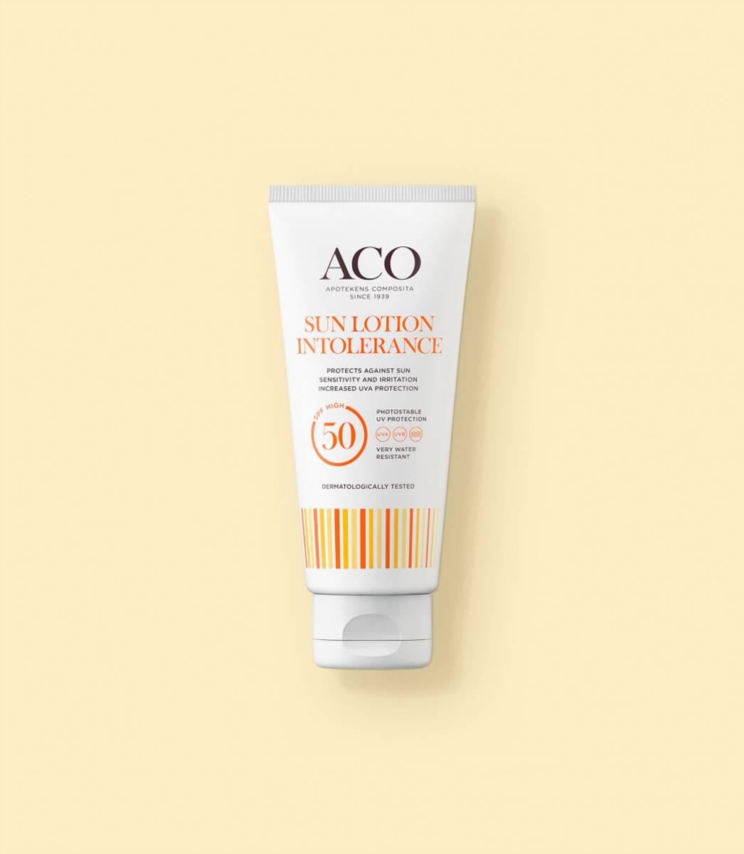 Aco intolerance sunlotion f50 u/p 100 ml