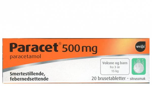 Bilde av Paracet 500 mg 20 brusetabletter