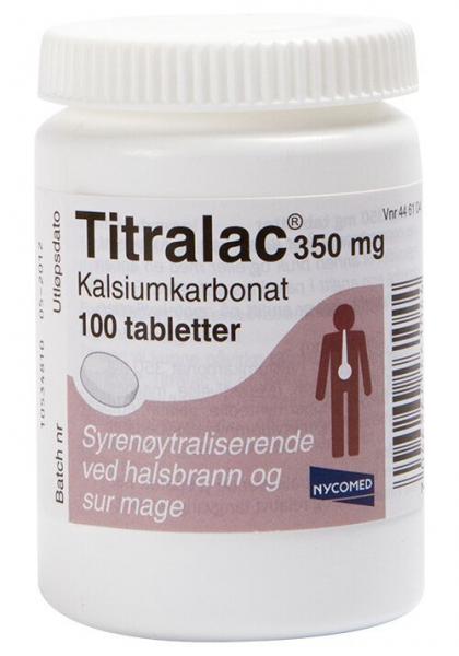 Bilde av Titralac 350 mg 100 tabletter