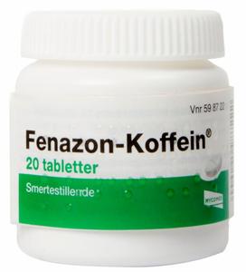 Bilde av FENAZON-KOFFEIN TABLETTER 20 STK