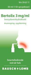 Bilde av BERTOLIX MUNNSPRAY 3MG/ML 30 ML
