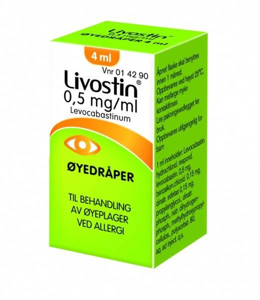 Bilde av Livostin øyedråper 0,5 mg/ml 4 ml