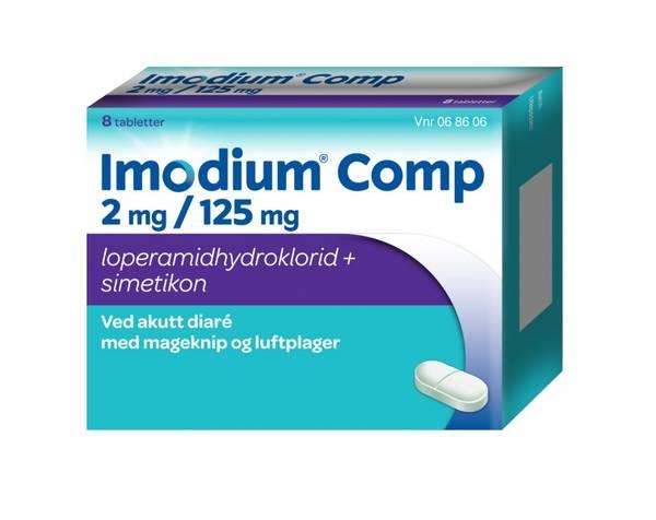 Bilde av Imodium comp 8 tabletter