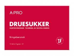Bilde av APRO DRUESUKKER TAB 2G BRINGEBÆR 12 STK