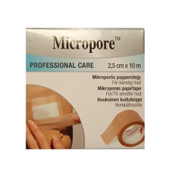 Bilde av Micropore 2,5 cm x 10 m refill lys brun