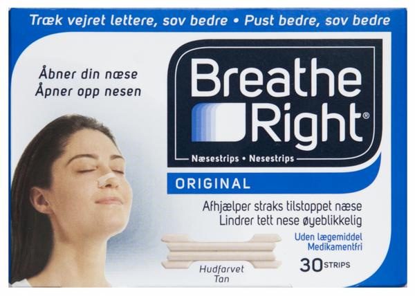 Bilde av Breathe right tan nesestrips l 30 stk