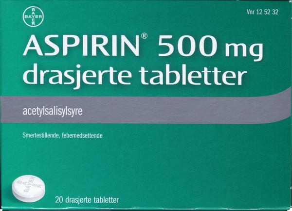 Bilde av Aspirin 500 mg 20 tabletter