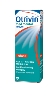 Bilde av OTRIVIN NESESPRAY 1MG/ML MENTOL 10ML
