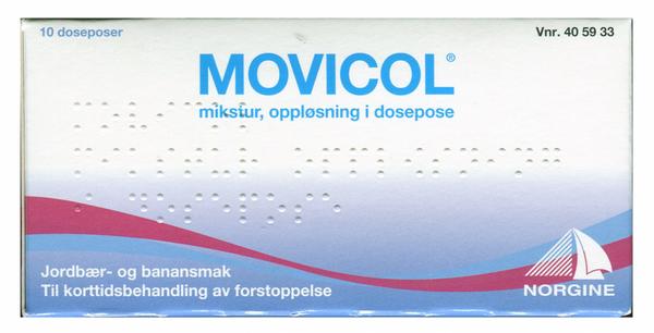 Bilde av Movicol mikst jordbær/banan 10 doseposer