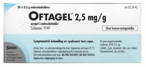 Bilde av OFTAGEL ØYEGEL 2,5MG/G 30 DOSER