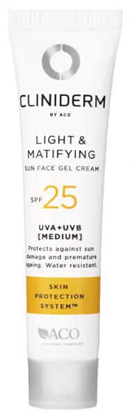 Bilde av Cliniderm sun light & matifying face gel f25 50 ml