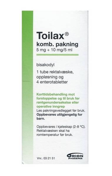 Bilde av Toilax enterotab+rektalvæske 4+1 kombinasjonspakke