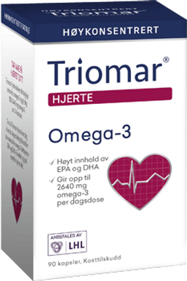 TRIOMAR HJERTE OMEGA-3 90 KAPSLER