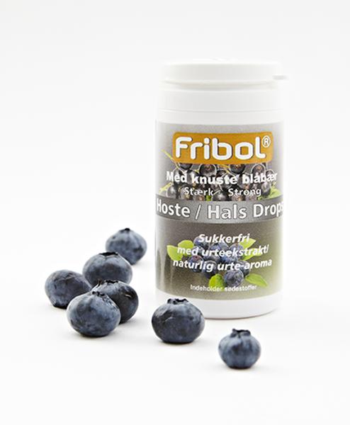 Bilde av Fribol sukkerfri host/hals blåbær 60 gram