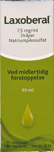 Bilde av Laxoberal dråper 7,5 mg/ml 30 ml