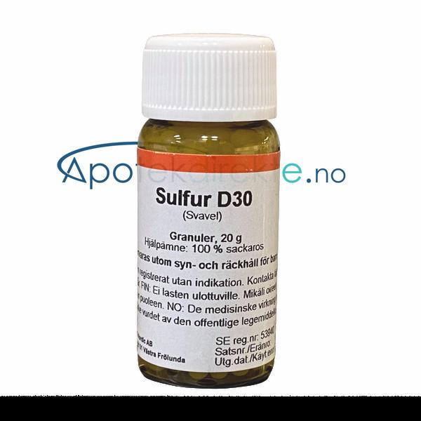 Bilde av Sulfur D30 20 gram piller