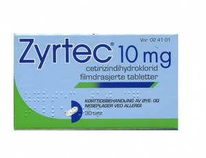 Bilde av ZYRTEC 10MG 30 TABLETTER