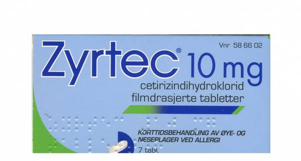 Bilde av Zyrtec 10 mg 7 tabletter