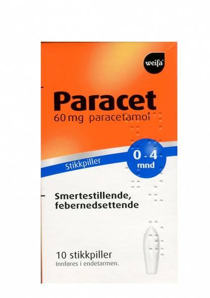 Bilde av Paracet 60 mg 10 stikkpiller