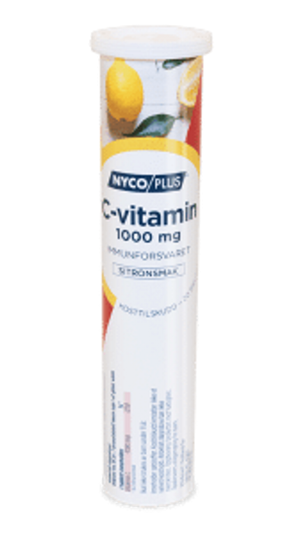 Bilde av Nycoplus C-vitamin 1000 mg brusetablett sitron 20 stk