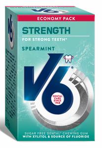 Bilde av V6 STRONG TEETH SPEARMINT 70 GRAM