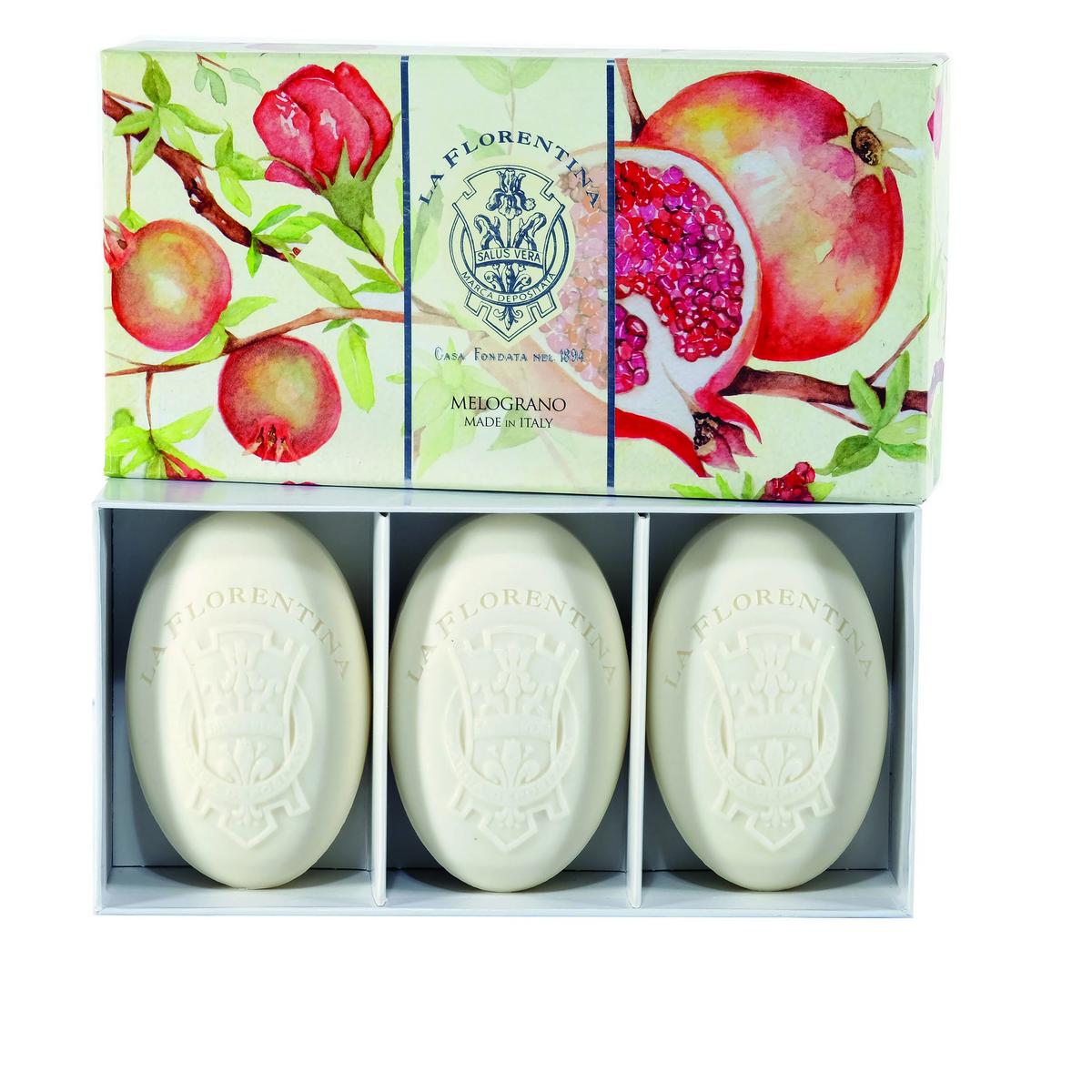 La Florentina Pomegranat Soap Gift 3 x 150 gram