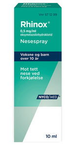 Bilde av RHINOX NESESPRAY 0,5MG U/KONS 10ML