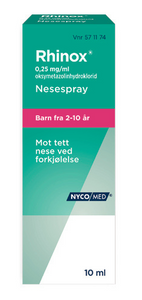 Bilde av RHINOX NESESPRAY 0,25MG U/KONS 10ML