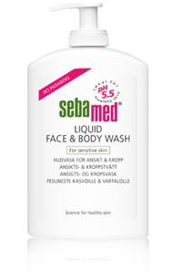 Bilde av SEBAMED LIQUID FACE&BODY WASH PUMP 300 ML
