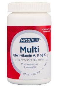 Bilde av NYCOPLUS MULTI U/A+D+K VITAMIN 100 TABLETTER