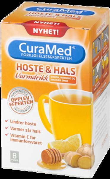 Bilde av Curamed hoste & hals drik sit/ho/i 8 poser
