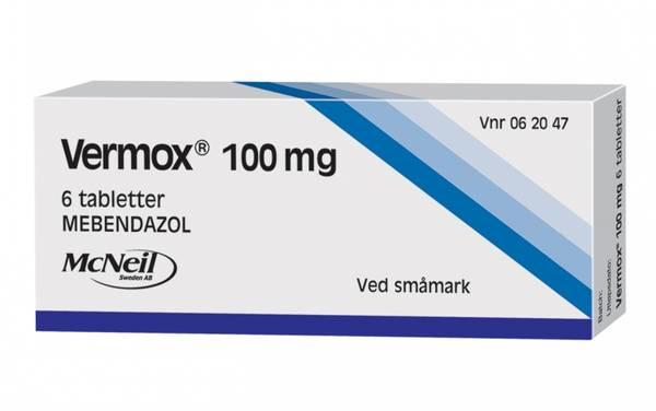 Bilde av Vermox 100 mg 6 tabletter