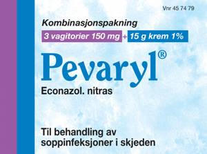 Bilde av PEVARYL 3VAGITORIER 150MG/15G KREM 1%