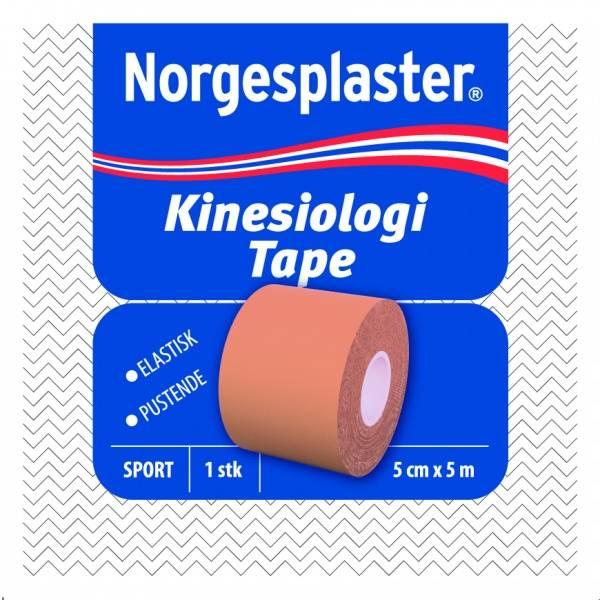 Bilde av Norgesplaster kinesiolog beige 5 cm x 5 m