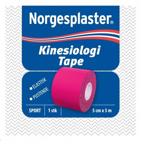 Bilde av Norgesplaster kinesiolog rosa 5 cm x 5 m