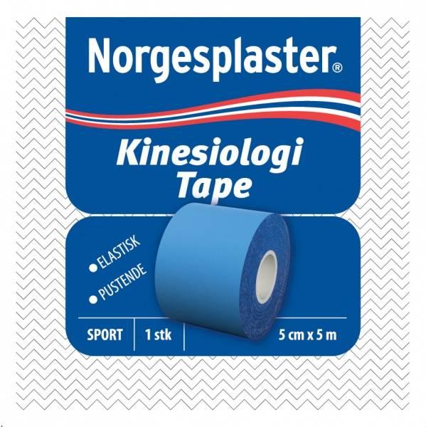 Bilde av Norgesplaster kinesiologi blå 5 cm x 5 m