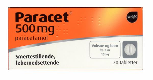 Bilde av Paracet 500 mg 20 tabletter