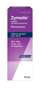 Bilde av ZYMELIN NESESPRAY 1MG U/KONS 10ML