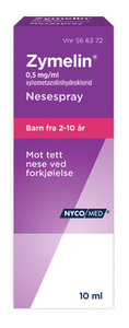 Bilde av ZYMELIN NESESPRAY 0.5MG U/KONS 10ML