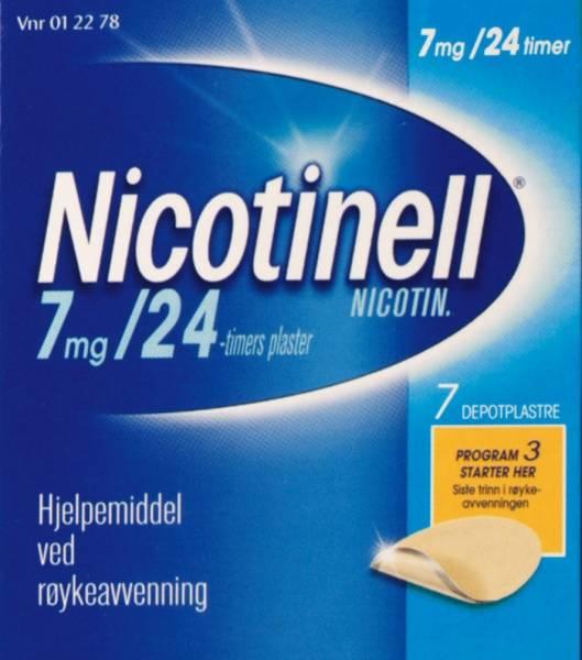 Bilde av Nicotinell depot plast 7 mg/24t 7 stk