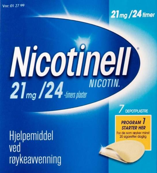 Bilde av Nicotinell depot plast 21 mg/24t 7 stk