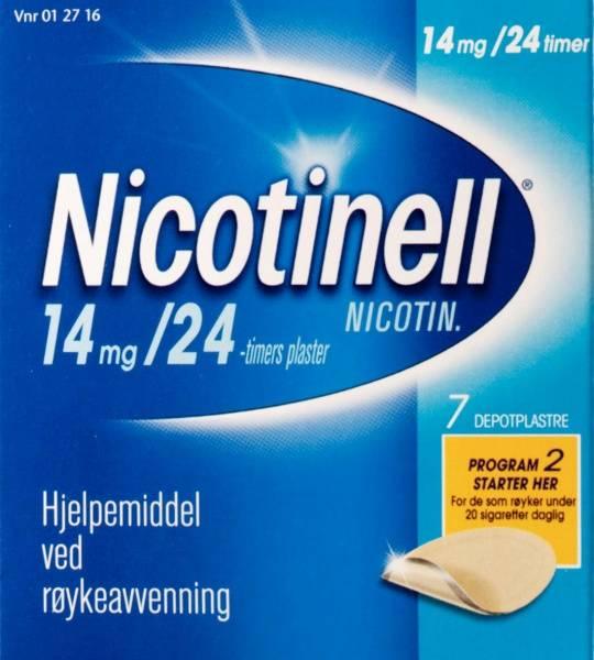 Bilde av Nicotinell depot plast 14 mg/24t 7 stk