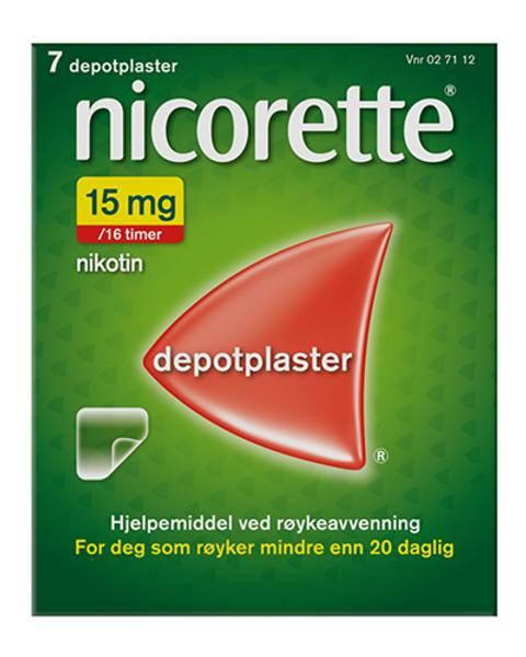 Bilde av Nicorette depotplaster 15 mg/16 timer gjennomsiktig 7 stk