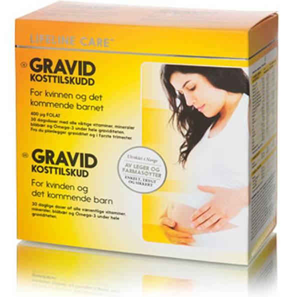 Bilde av Lifeline gravid kostilskudd 4 x 30 tabletter