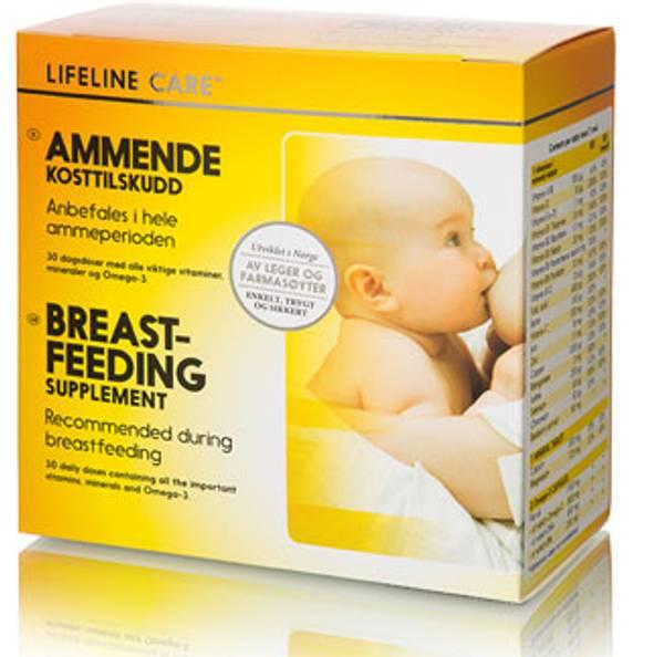 Bilde av Lifeline ammende kosttilskudd 4 x 30 tabletter