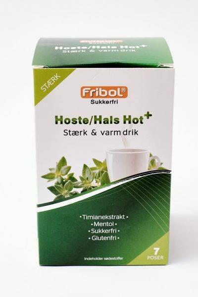 Bilde av Fribol varmdrikk hoste/hals hot+ 7 x 6 gram