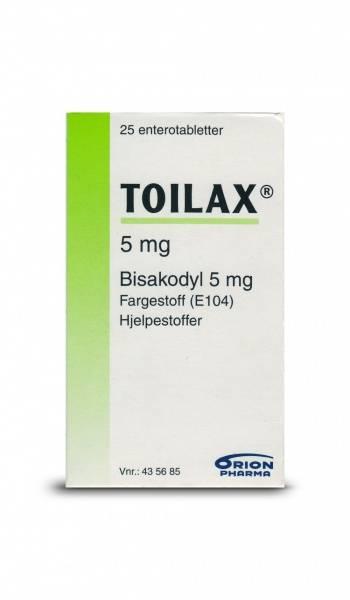 Bilde av Toilax 5 mg 25 tabletter